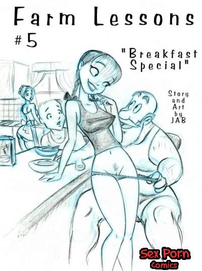 Farm Lessons Jab Comics XXX Issue 5 Family Breakfast