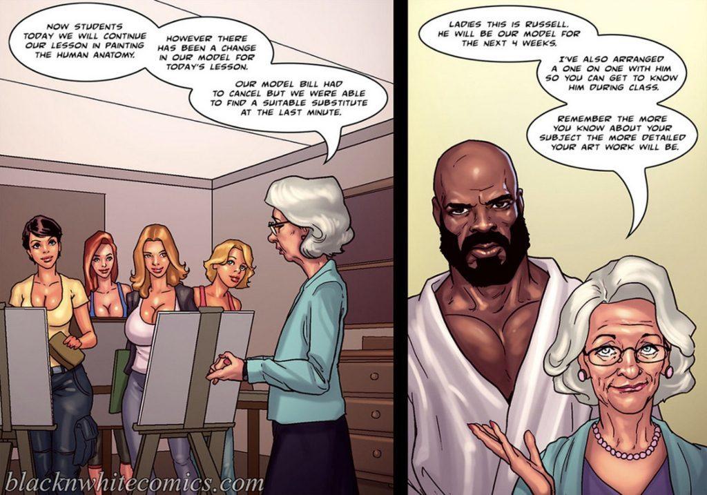 Interracial Cartoon sex Comics omas spuiten pussy